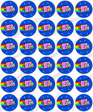 30 x Nyan Cat Cool Party Edible Rice Wafer Paper Cupcake Toppers