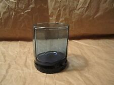 Anchor Hocking  ESSEX  MIDNIGHT BLUE Double Old Fashioned  3 3/4""