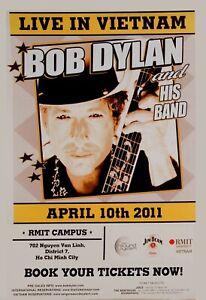 Bob Dylan in Vietnam Concert Poster  2011  12x18