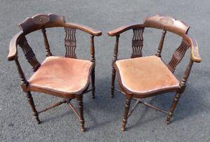 Pair Edwardian Corner Chairs