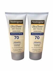 Neutrogena Ultra Sheer Dry-Touch Broad Spectrum SPF 70 Sunscreen 3 fl.oz