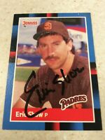 1988 Donruss #387 San Diego Padres Eric Show Autographed Baseball Card
