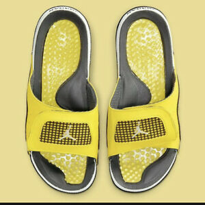 Nike Air Jordan Hydro Retro 4 Lightning Slides DN4238-701 Men's Size 10 Sandals