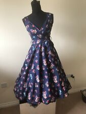 Retro Vintage Cherry Fruit Print Swing Dress - 10