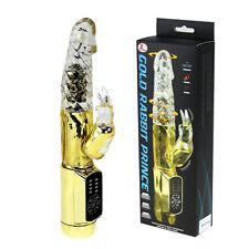vibratore dildo realistico vibrante ROTANTE RABBIT BUNNY sex toy sexy COLOR ORO