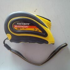 SECURITY MEASURING TAPE RUBBER EXTERIOR 5MTS./16FT./SAE AND METRIC. !!!