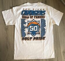 NFL San Diego Chargers 50 YEARS HALL OF FAMERS - BOLT PRIDE T-Shirt, Adult MED