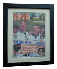 EURO 96+SKINNER+Three Lions+NME 1996+POSTER+AD+FRAMED+ORIGINAL+FAST GLOBAL SHIP