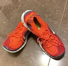 Nike Free 5.0 Flyknit+Men's Running Shoes Grey/Blood Orange615805-616 Size 11.5
