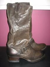 NWT FRYE Martina Engineer Women's BROWN Boots 76915 Low heel Mid-Calf..size 8