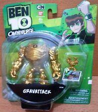 "Bandai Ben 10 Omniverse 4"" Gold prize Gravattack action figure mint on card"