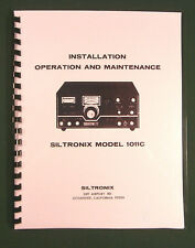 """Siltronix 1011C Operation Manual: 11"""" X 17"""" Foldout Schematic & Plastic Covers!"""