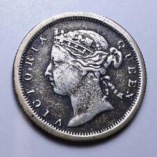 1879 Hong Kong Twenty 20 Cents Coin Victoria Queen - RARE