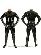New Latex Rubber Gummi Men's Jumpsuit Gloves Skinny Catsuit Costume Party S-3XL