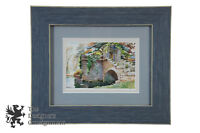 English Watercolor Landscape Eugene Waterscape Stone Archway Stairway Cambridge