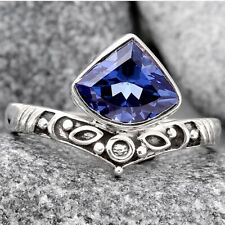 Tanzanite 925 Sterling Silver Ring s.9 Jewelry 6253
