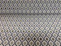 Jackson Recco Batik  Silver Grey Pink Jacquard Curtain//Upholstery Fabric
