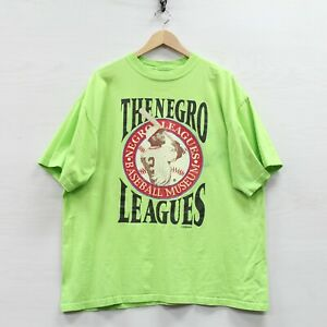 Vintage The Negro Leagues Spirit of the Past Baseball Museum T-Shirt Size 2XL