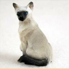 Shorthaired Siamese Cat Tiny Ones Figurine Statue Pet Resin