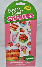PEACEABLE KINGDOM 35 SCRATCH N' SNIFF-STRAWBERRY SCENTED STICKERS,CAKE,ICE CREAM