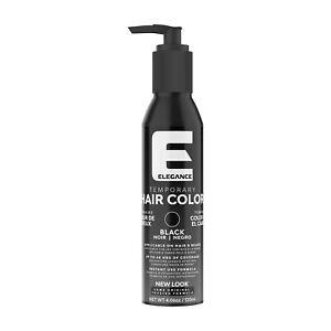 Elegance Temporary Hair Color - Black 4.06 oz / 120 ml ammonia peroxide-free