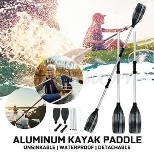 2 PCS of Dual Purpose 48 to 96'' Kayak Paddles and Inflatable Boat Oars US