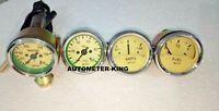 "Smiths Replica 52 mm 2 1/16"" Gauges Kit - Temp + Oil + Fuel + Amp Gauge Cream"