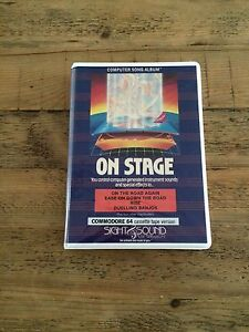 On Stage for Commodore 64 (Cassette tape version) - CIB/OVP