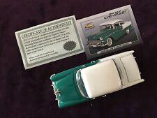 1955 Chevrolet 2 Door Sedan w certs  by National Motor Museum Mint,  w free ship