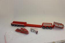 Tekno 59460 Goldhofer XLE Low Loader 8 Axle Plain Red 1 50 Scale
