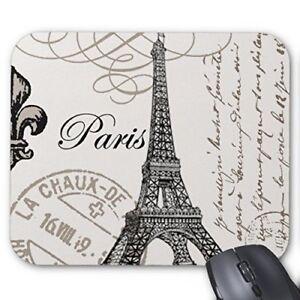 Vintage Paris.Mouse pad Mouse Pad Mouse Mat Design Natural Eco Rubber Durable