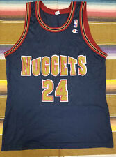 Vtg 90s Champion Denver Nuggets #24 Antonio McDyess Jersey Size 44.