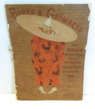 RIRES & GRIMACES and Laughs 1900 FRENCH CARTOONS BASCHET PARIS Softcover Book