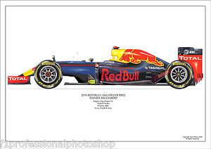 2016  Daniel Ricciardo Red Bull RB12 ltd ed./ 250 signed & numbered by artist