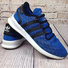 ADIDAS Men's Sneakers Size 8.5 Running Shoes Blue Yellow Mesh AQ8322