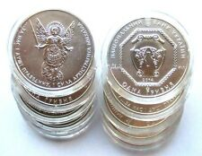 Lot von 10 x 1 Unze Silber Münze Ukraine 1 Griwna 2014, ARCHANGEL MICHAEL