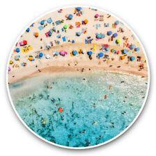 2 x Vinyl Stickers 25cm - Beach Mallorca Balearic Islands Spain  #44236