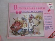 88 Country Projects To Make Bunnies, Bears,Geese, Craft Booklet