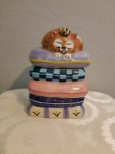 New listing Cat Treat Jar Clay Design Royal Highness Gary Patterson
