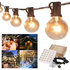 More details for 50ft globe outdoor garden festoon fairy string lights 50 bulbs g40 mains powered