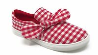 Women's Fashion Sneaker GINGHAM CHECKER with bow Low Top Fashion Sneakers Shoes
