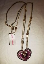 NEW WITH TAGS Betsey Johnson Heart and arrow long necklace