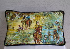 """Thoroughbred Horse Racing Equestrian Pillow Impressionist Degas 18"""" x 11"""""""