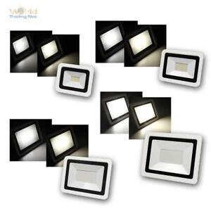 LED Außenleuchte Strahler, SMD-SLIM Fluter Flutlichtstrahler Wand-Scheinwerfer