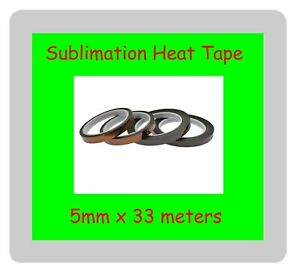 4 x Sublimation Heat Tape 5mm x 33 meters