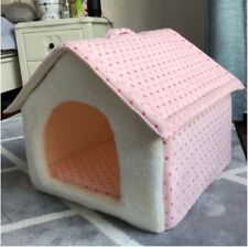 New Warm Pet Dog Cat House Bed Indoor Tent Mat Coushion Raised House Size S