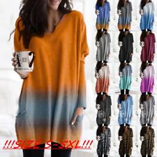 PLUS SIZE Women Baggy Tunic Top Ladies Long Sleeve Loose Casual Jumper Pullover
