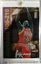 Michael Jordan 1995 Collectors Choice Players Club Platinum Checklist #210 SP