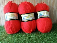 300g Double Knitting By Sheena Anne Acrylic Red