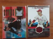 """2-Card Lot: Roy Halladay Jersey Cards Blue Jays & Phillies Great """"Doc"""" RIP"""